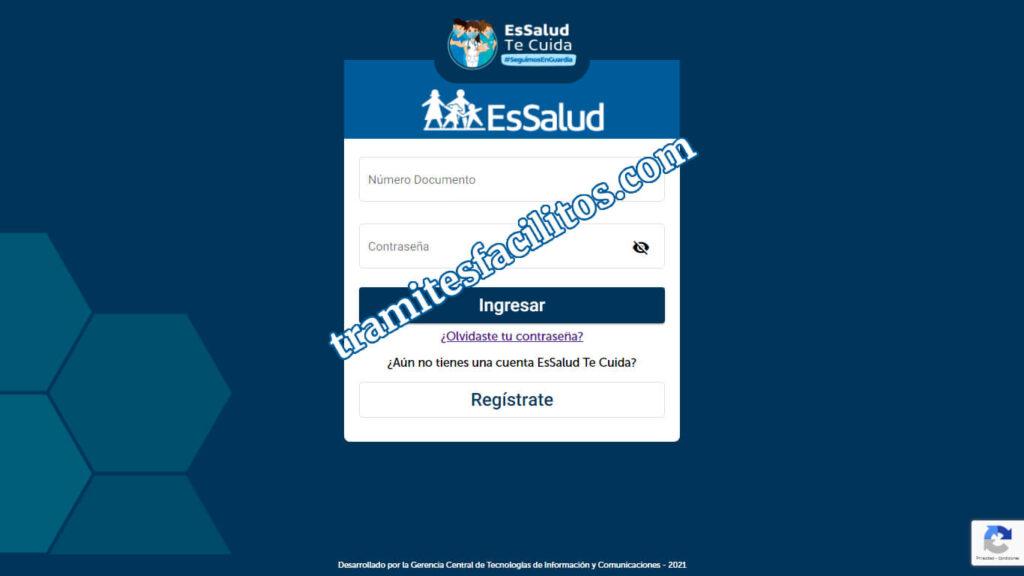 ¿Cómo registrarme en Essalud Te Cuida?