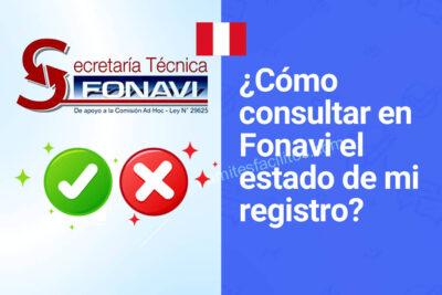 ¿Cómo consultar estado de trámite FONAVI Perú?