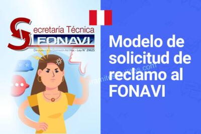 FONAVISTAS: Modelo de solicitud de reclamo al Fonavi