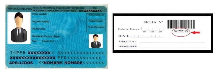 Ubicación del código de ficha registral en comprobante de pago