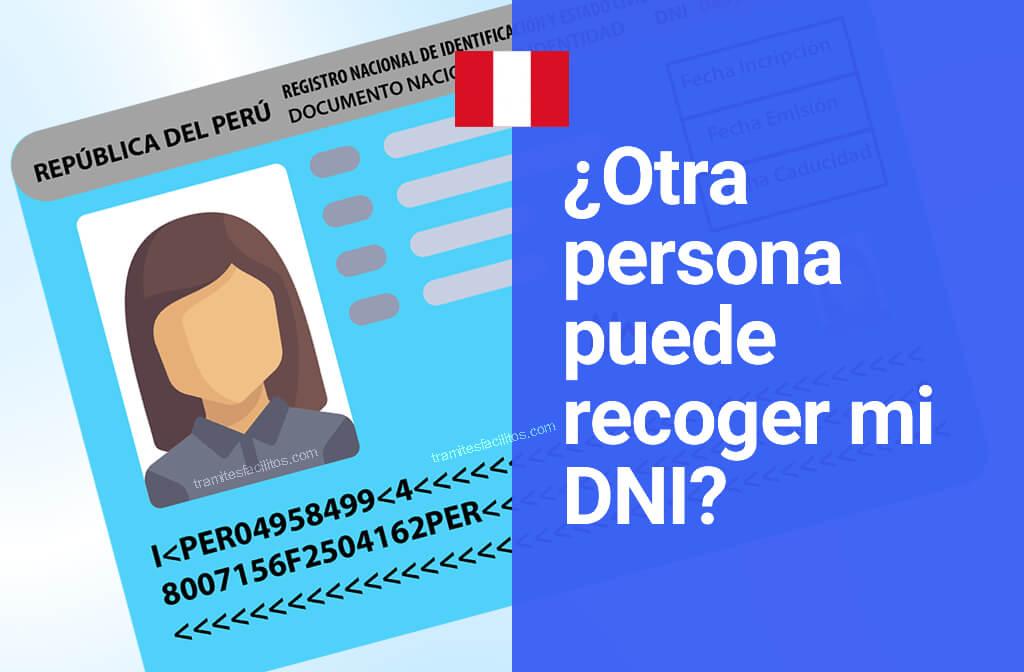 ¿Otra persona puede recoger mi dni en Perú?