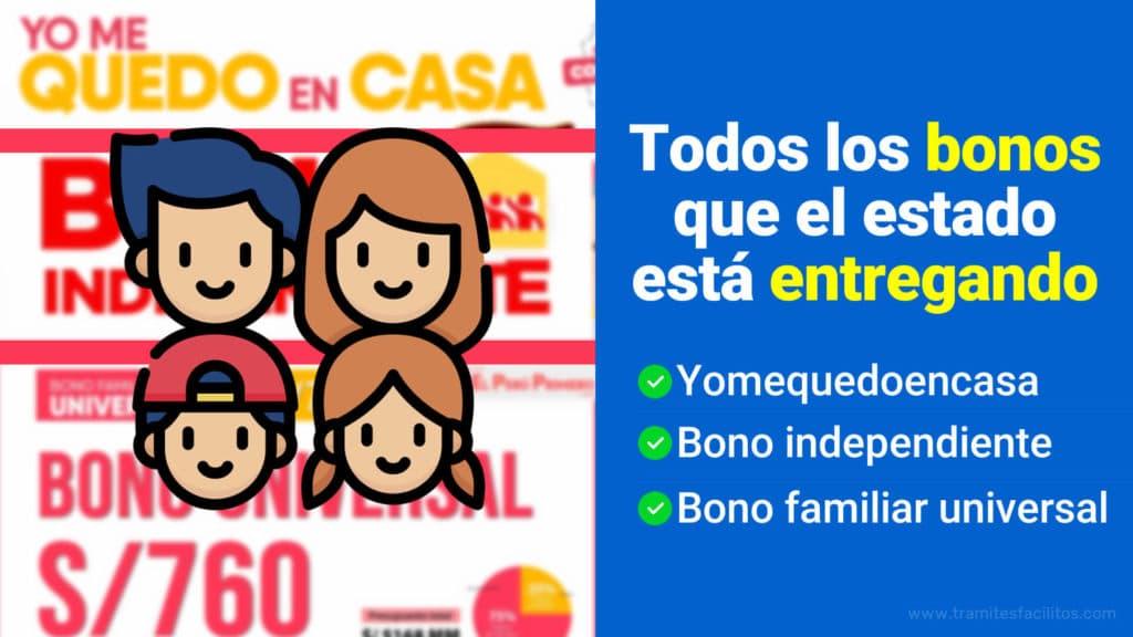 Bonos Perú 2020 COVID19